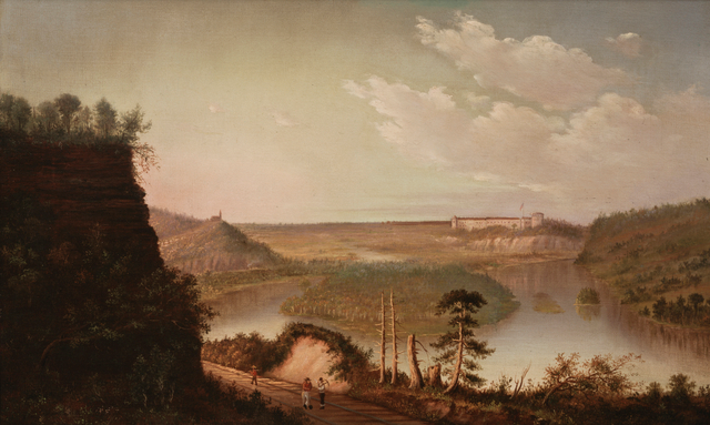 Caption: Fort Snelling, painted circa 1875, Credit: Alfred Sederberg