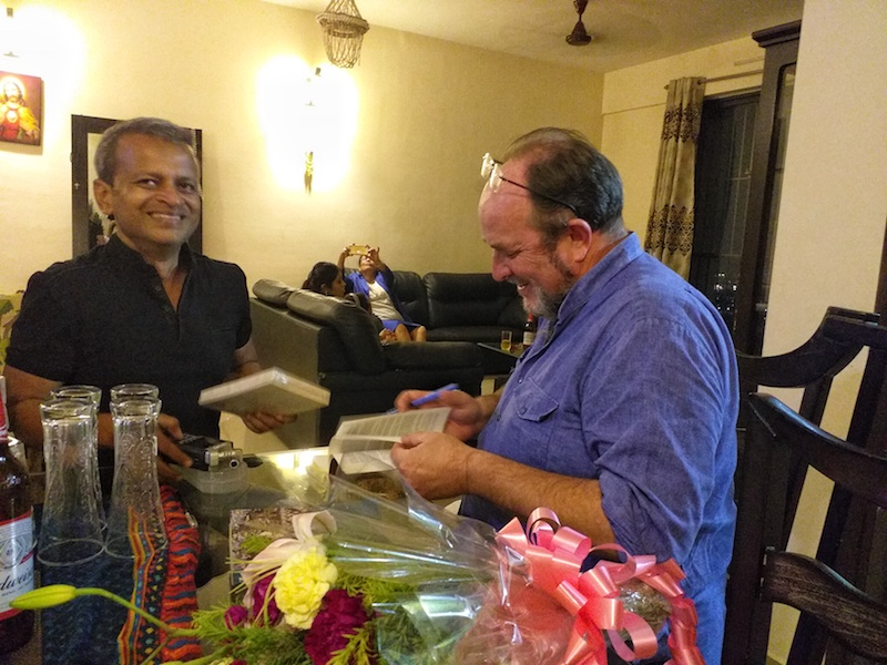 Caption: Sandip Roy and William Dalrymple