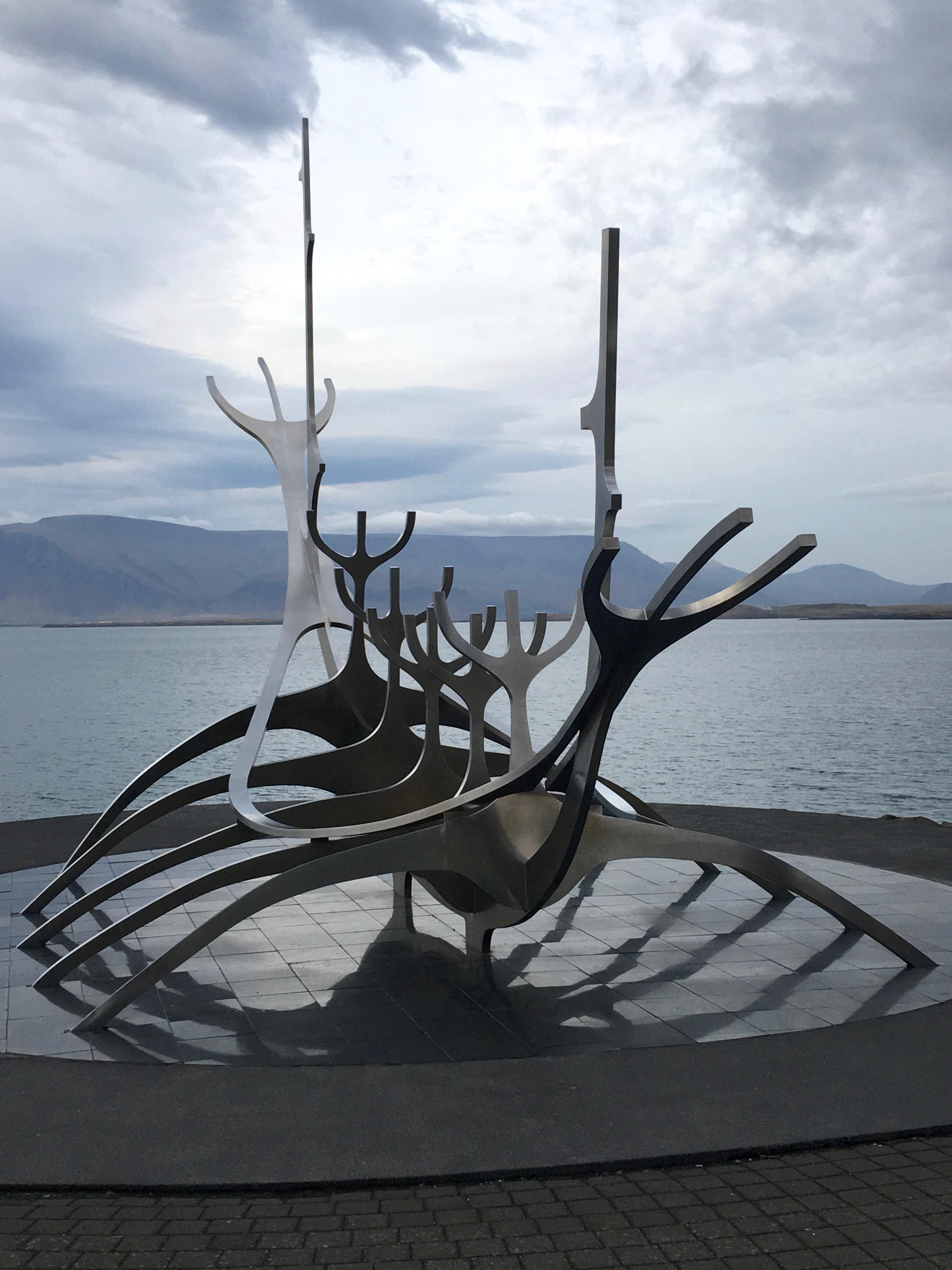 Caption: Sun Voyager sculpture in Reykjavik., Credit: Tonya Fitzpatrick