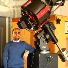Caption: Astronomer Alessandro Nastasi at the GAL Hassin International Center for Astronomical Sciences in Sicily, winner of a 2019 Shoemaker NEO grant., Credit: Alessandro Nastasi