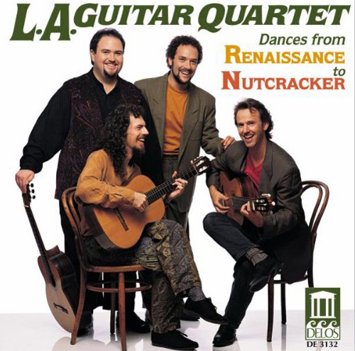 Caption: LA Guitar Quartet, Credit: Delos Records