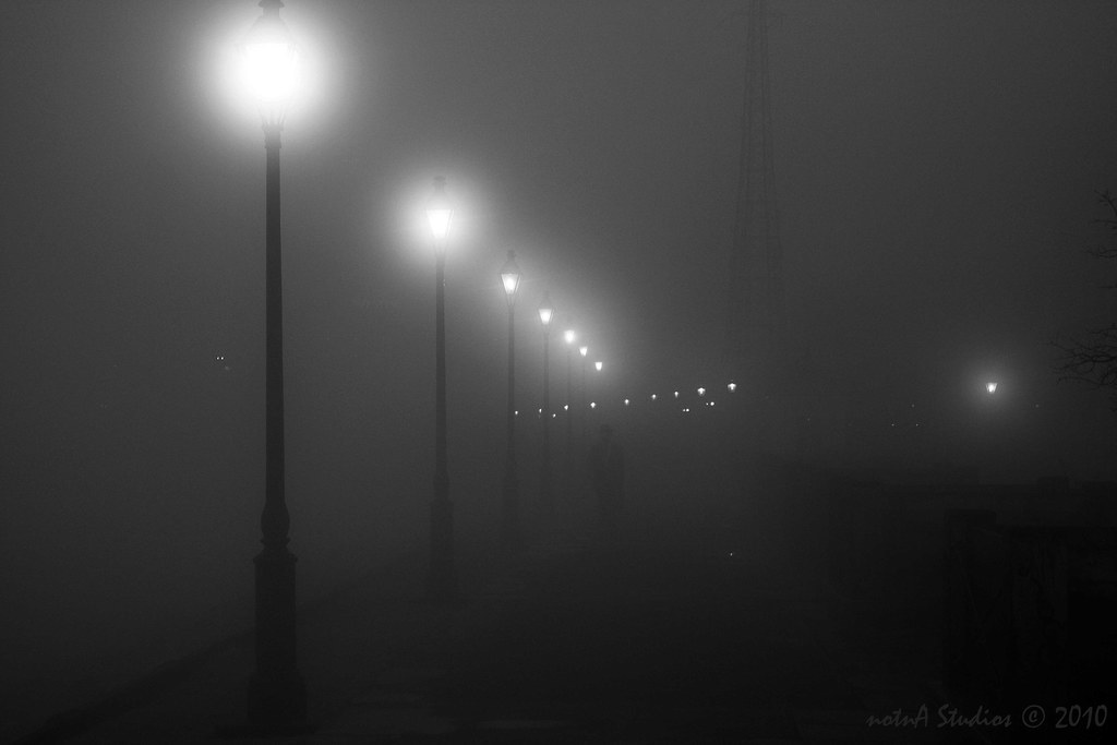 Caption: Foggy New Orleans