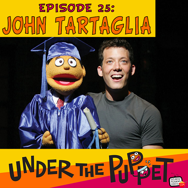 Caption: John Tartaglia in Avenue Q
