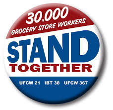 Caption: UFCW & Teamsters Grocery Workers