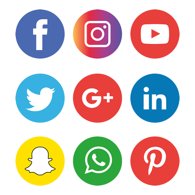 Caption: variouys social media icons