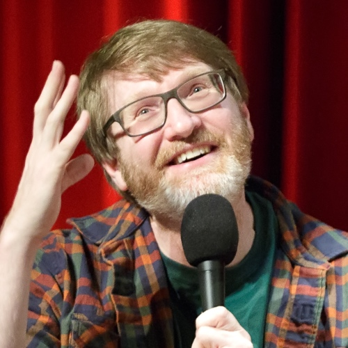 Caption: Chuck Klosterman on Live Wire, Credit: Jennie Baker