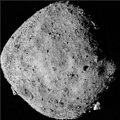 Caption: This mosaic image of asteroid Bennu is composed of 12 PolyCam images collected on Dec. 2 by the OSIRIS-REx spacecraft from a range of 15 miles (24 km)., Credit: NASA/Goddard/University of Arizona