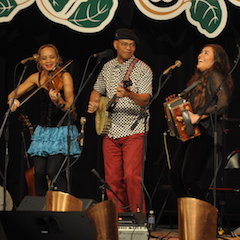 Caption: Gumbo, Grits & Gravy on the WoodSongs Stage.