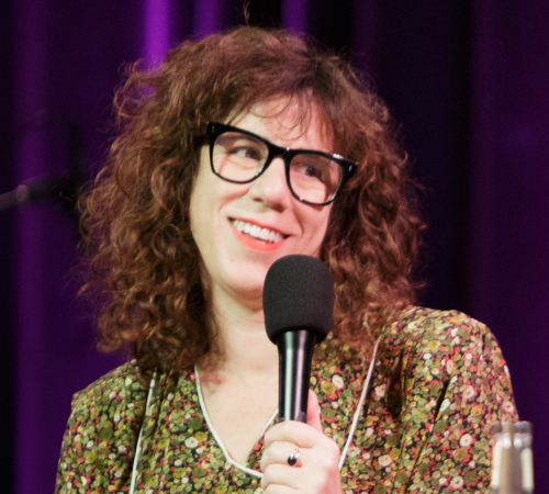 Caption: Jami Attenberg on Live Wire, Credit: Jennie Baker