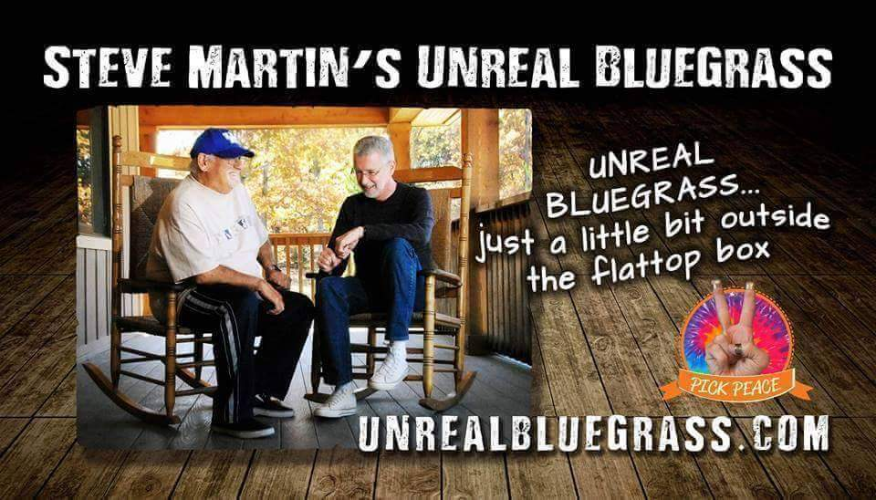 Caption: Steve Martin's Unreal Bluegrass