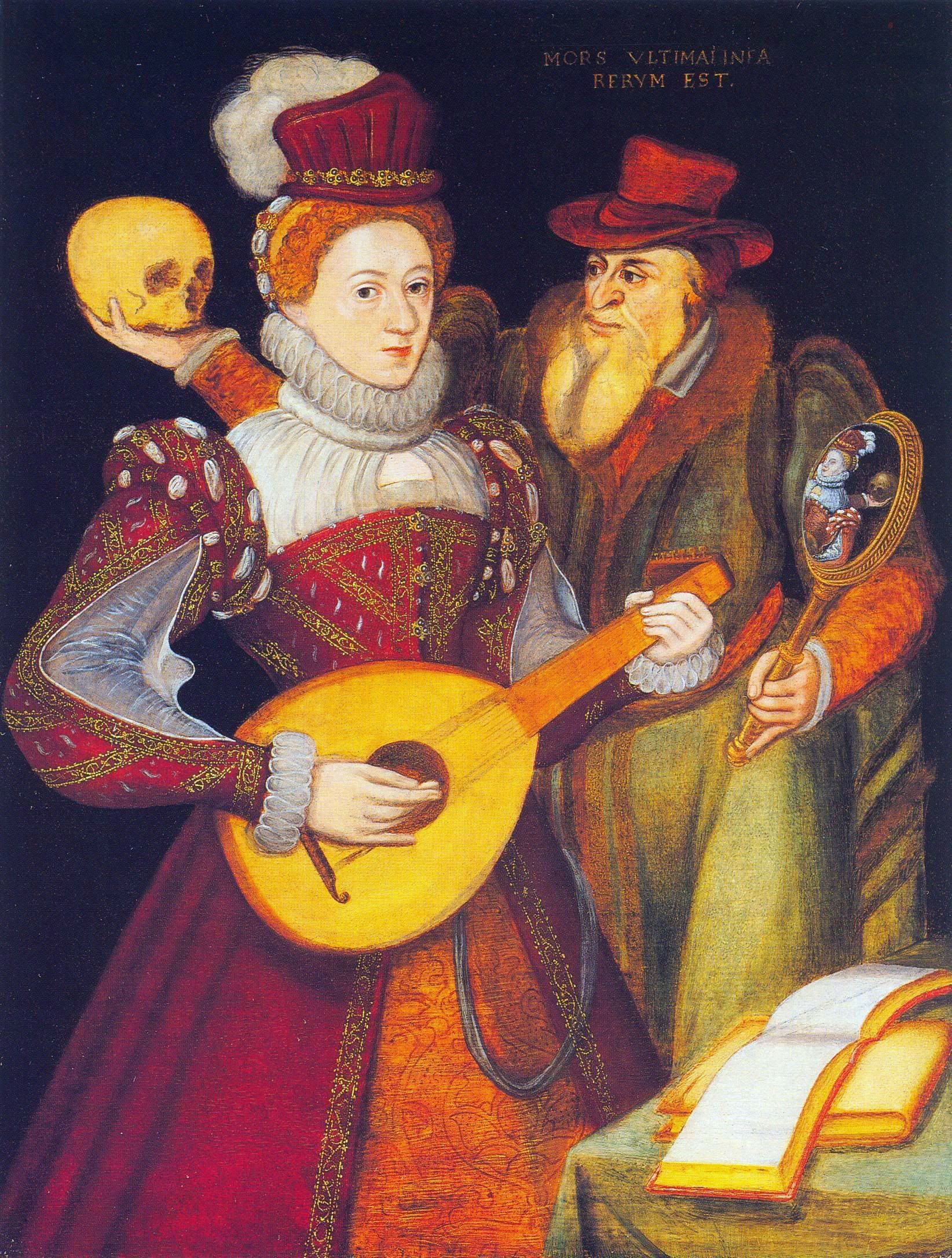 Caption: Queen Elizabeth I playing the lute