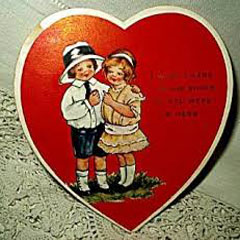 Caption: 1920s Valentine Card