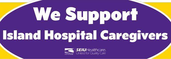 Caption: Island Hospital Workers, SEIU 1199NW