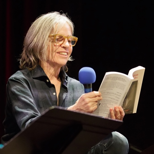 Caption: Eileen Myles on Live Wire, Credit: Jennie Baker