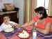 Caption: Ana Estrada en casa con su hijo Yahir, a quien tuvo despues de sobrevivir el cancer, Credit: Farida Jhabvala Romero