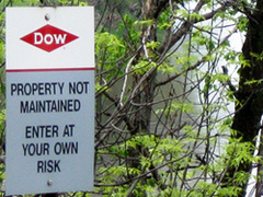 Caption: Residents are warned by Dow to 'enter at their own risk', Credit: Vincent Duffy