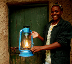 Caption: Kerosene lamp, Credit: Paula Kahumbu