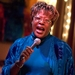 Caption: Francine Reed onstage at Eddie's Attic