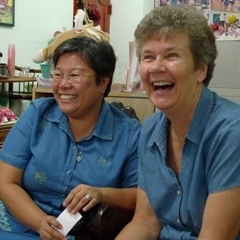 Caption: Maryknoll's Sisters Marvie Misolas and Mary Mertens, Credit: Maryknoll Magazine