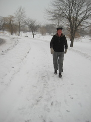 Caption: Christopher Wright walks outside in Minneapolis on some of the coldest days of the year., Credit: Suzanne Pekow