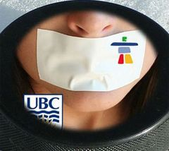 Caption: Olympic civil liberties suppression, Credit: UBC