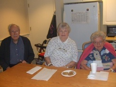 Caption: Sig, Kay and Yvonne at Providence House