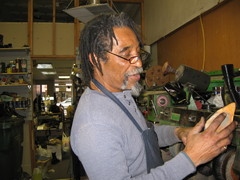 Caption: Gayford Caston, Shoe Repairman, Credit: Jill Strauss
