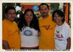 Caption: Puentes Board Members and Executive Director Lucas Diaz