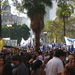 Caption: Crowds at the Plaza de Mayo, Credit: Walter Murch