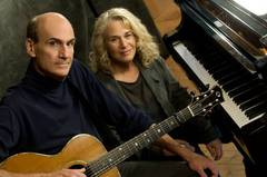 Caption: Carole King and James Taylor, Credit: James O'Hara