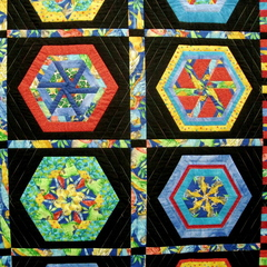Caption: Quilt from London Quilters exhibition., Credit: Walter Murch