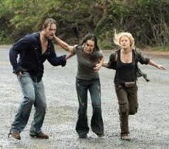 Caption: Making a run to leave the island in the final episode of &quot;Lost.&quot;, Credit: Mario Perez ABC