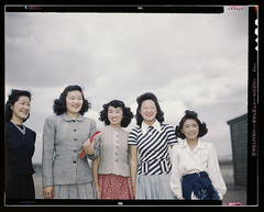 Caption: Women at the Tulle Lake War Relocation Camp, circa 1942. , Credit: Bob Bobster.  