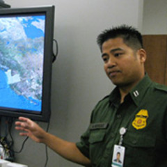 Caption: Agent Michael Bermudez, Supervisory Border Patrol Agent and Public Affairs Officer, US Customs and Border Patrol., Credit: Eroyn Franklin