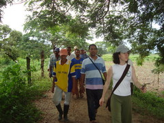 Caption: PBI Volunteer Dana Brown Accompanies Local Activists in Colombia, Credit: Dana Brown