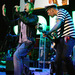Caption: Gorillaz's members, including Blur's Damon Albarn, perform without their typical cartoon disguises., Credit: Courtesy of the artist