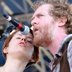 Caption: The Swell Season performs at the 2010 Newport Folk Festival., Credit: Shantel Mitchell