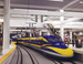 Caption: Artist rendering of the California High Speed Rail, Credit: CAHSRA