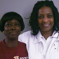 "Zenobbie Clark (L) and her sister, Diana Carter (R), remember their brother, Samuel ""Bubba"" Hammond Jr. <a href=""http://www.prx.org/pieces/48177-storycorps-griot-zenobbie-clark-and-diana-carter"">Listen Here</a>. Credit:"