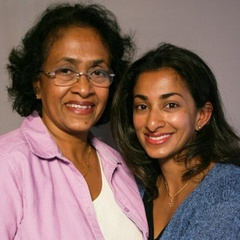 "Caption: Mala Fernando tells her daughter Ashanthi Gajaweera about the early days of her marriage in Sri Lanka. <a href=""http://www.prx.org/pieces/43223-storycorps-ashanthi-gajaweera-and-mala-fernando"">Listen Here</a>."