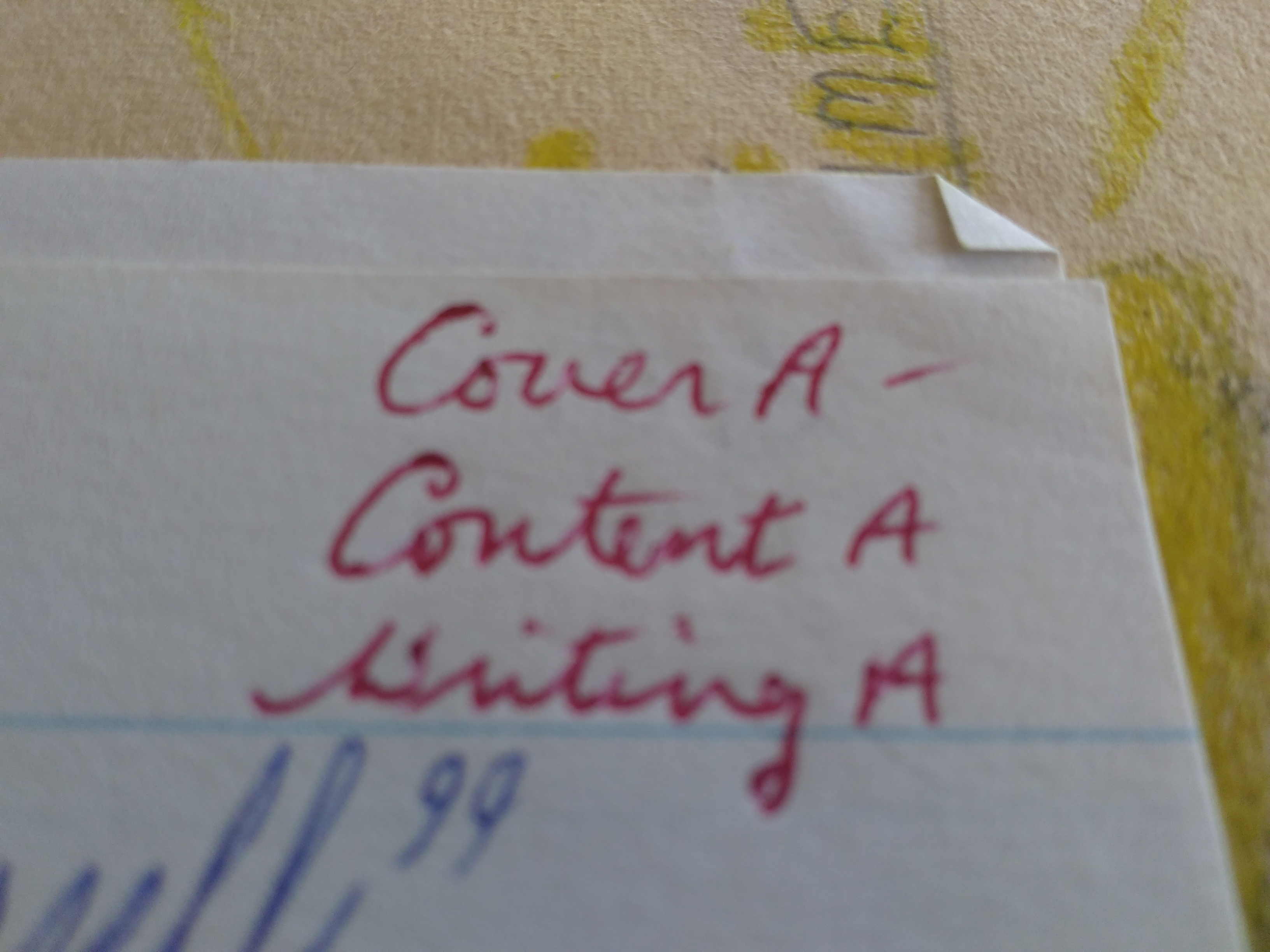 Caption: Cover A-. Content A. Writing A., Credit: Susan Cook