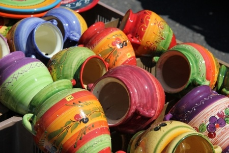 Caption: Pottery in Provence