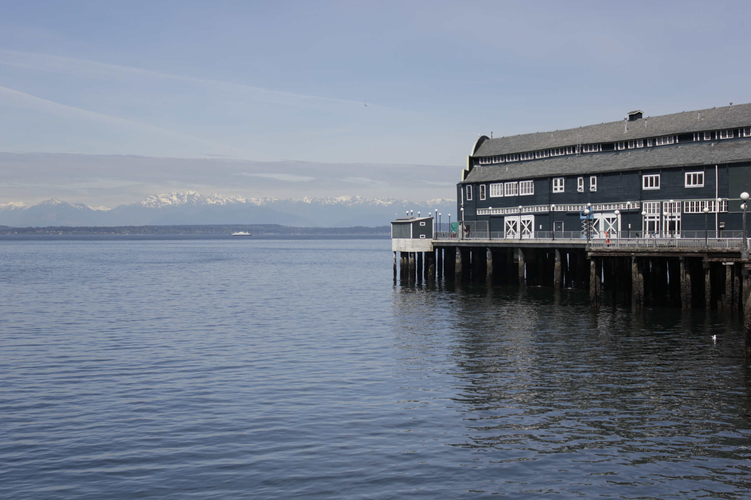 Caption: Pier at the Seattle Waterfront., Credit: Hillary Sanders