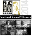 Caption: Murrow logo and Working Poor title page., Credit: Working Poor title page designed by Jennifer Juan, ideastream.
