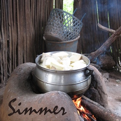 Caption: Yams simmering for fufu in Togo, West Africa, Credit: Carla Seidl