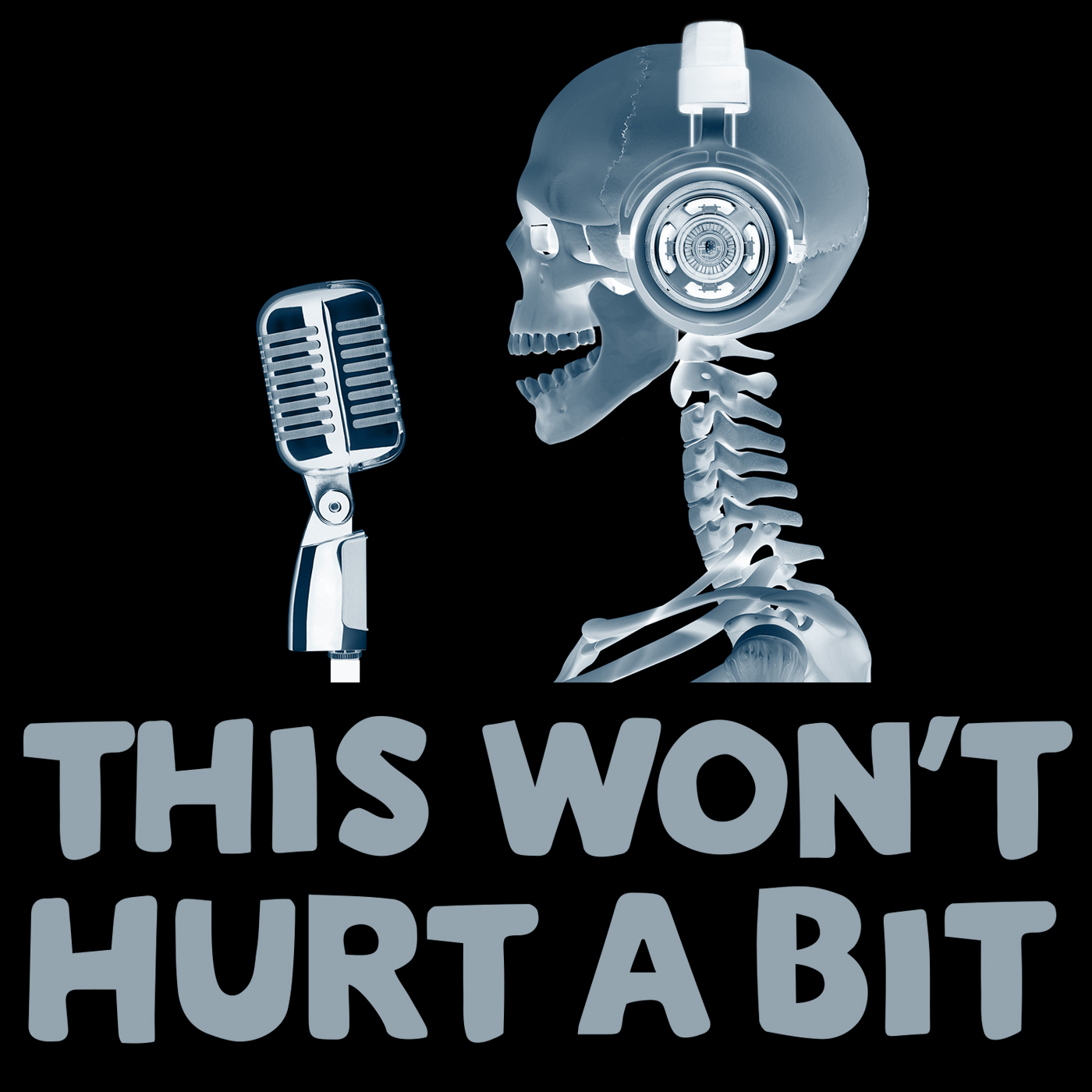 Caption: The medical podcast for your cortex and your funny bone, Credit: Foolyboo Inc