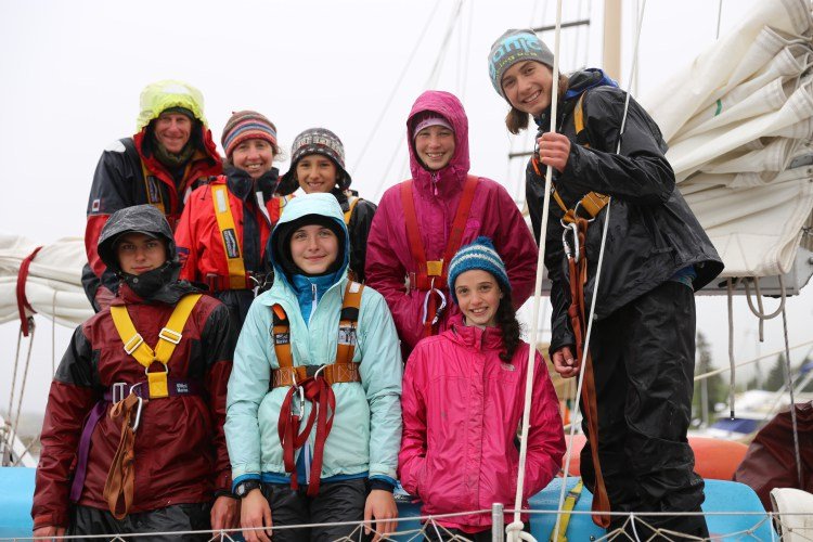 Caption: This crew is sailing Lake Superior to raise awareness about climate change.