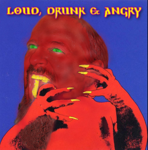 Caption: Loud, Drunk & Angry Logo