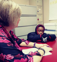Caption: Victor Small gets help for his asthma at an East Baltimore clinic., Credit: Angelica A. Morrison