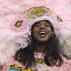 Caption: Honey Bannister - Flag Boy - &lt;br&gt;Creole Wild West Mardi Gras Indians, Credit: Erika Goldring